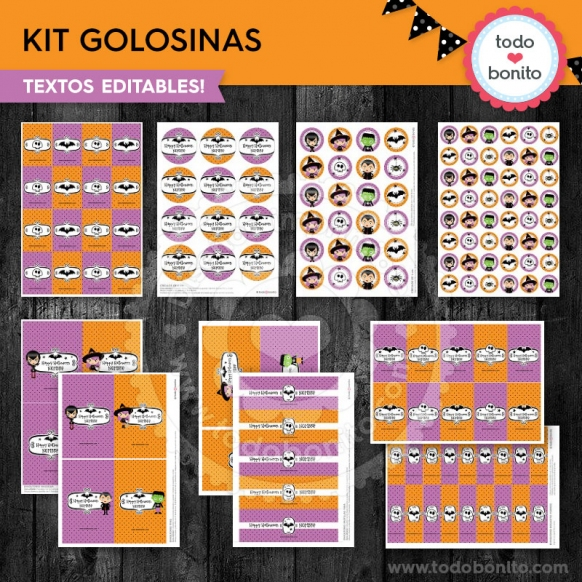 Kit de golosinas halloween