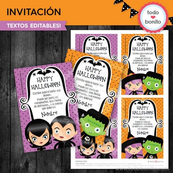 Tarjeta invitacion halloween