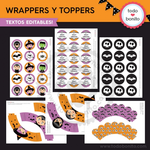 Wrappers y toppers 2 halloween
