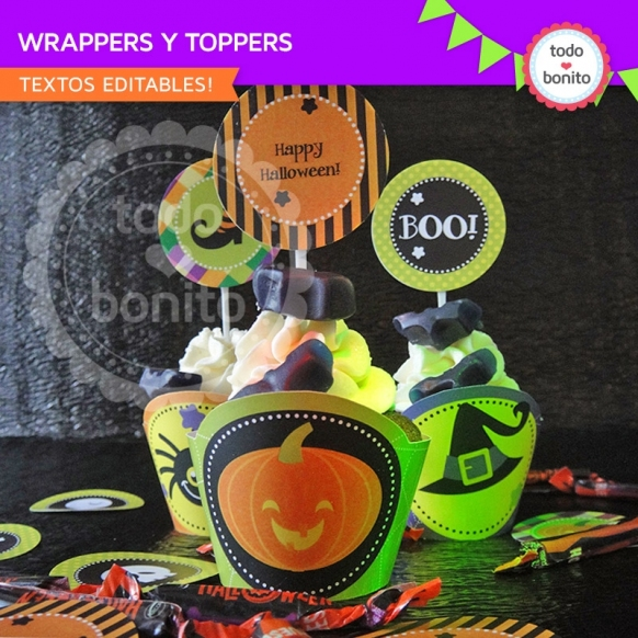 Wrappers y toppers halloween