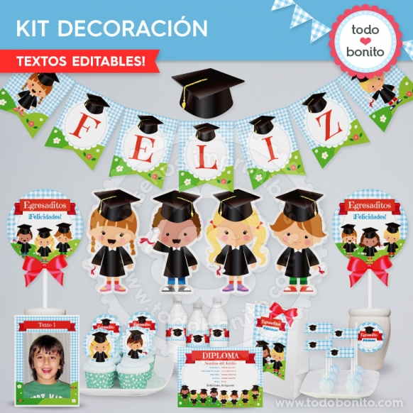 Kit decoracion egresaditos