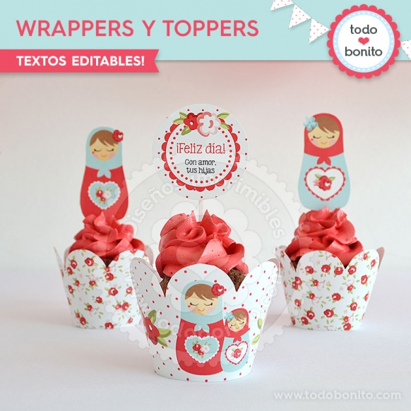 Wrappers y Toppers Mamushkas