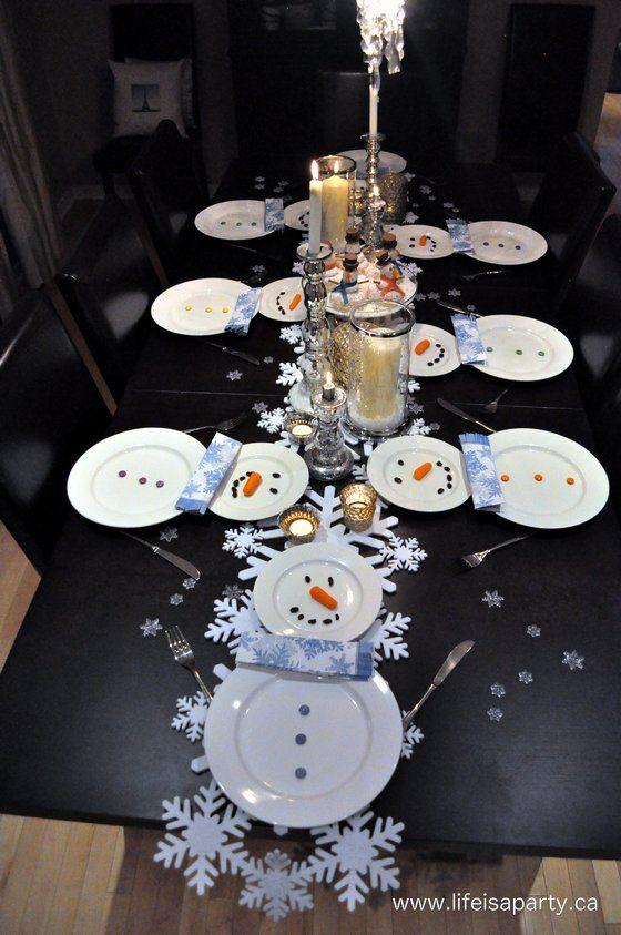 Mesa navideña infantil