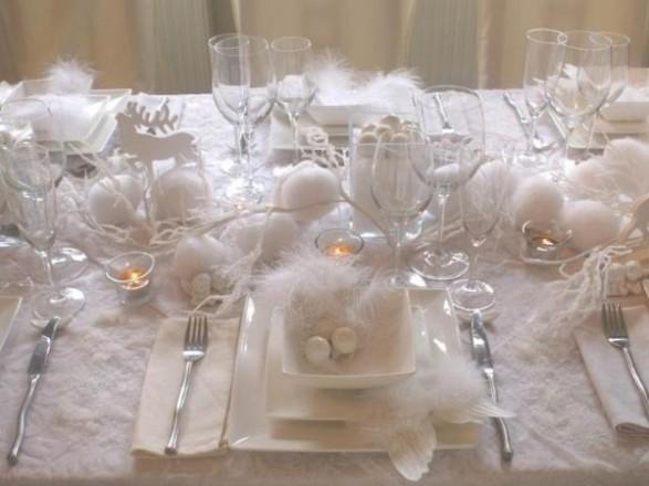 Mesa navideña Blanca