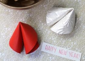 Galleta de papel para Año Nuevo