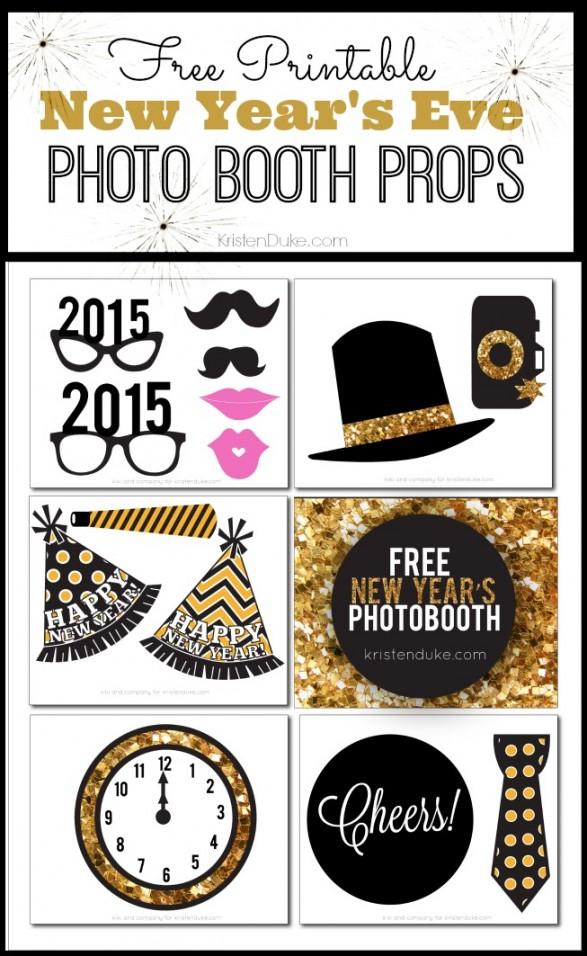 Photobooth año nuevo 2015: imprimible GRATIS! - Todo Bonito