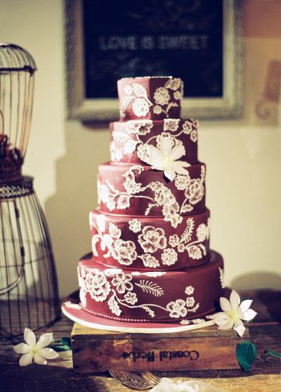 Torta de bodas pisos
