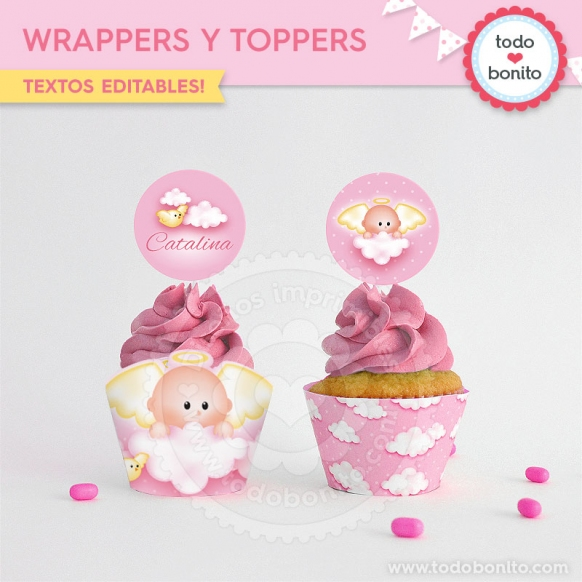 Wrappers- toppers angelito rosa
