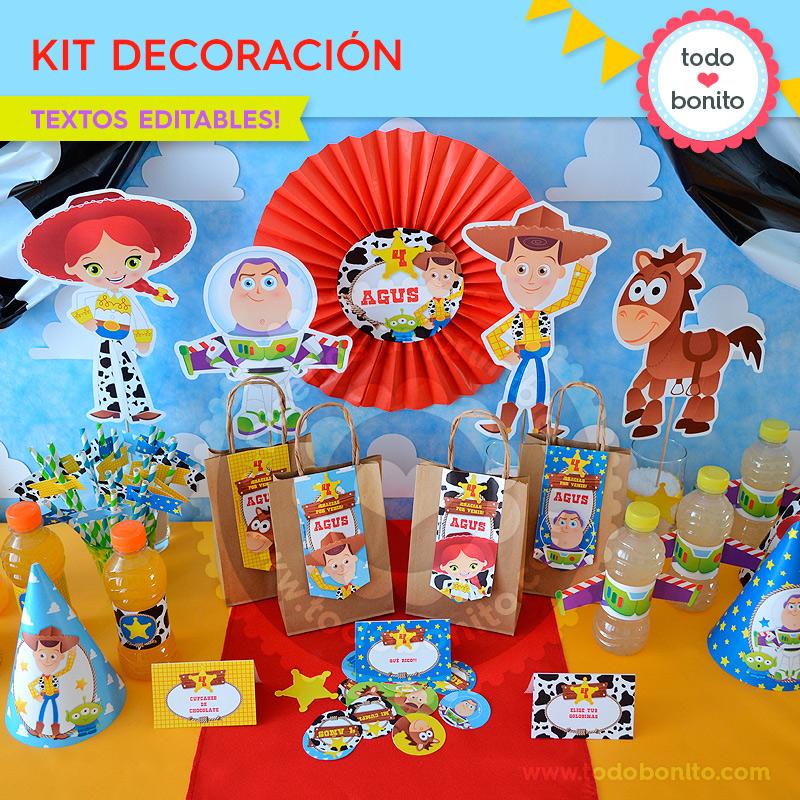 Kit de decoración imprimible Toy Story by Todo Bonito