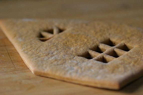 Casita de Gengibre piezas horneadas