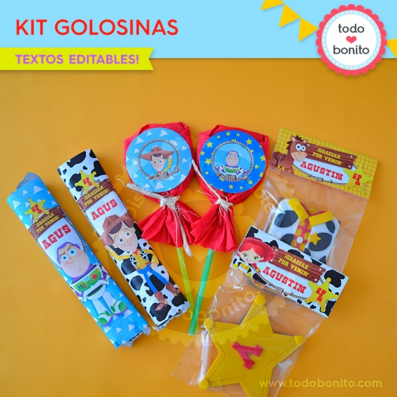 Kit Imprimible Golosinas Toy Story Todo Bonito