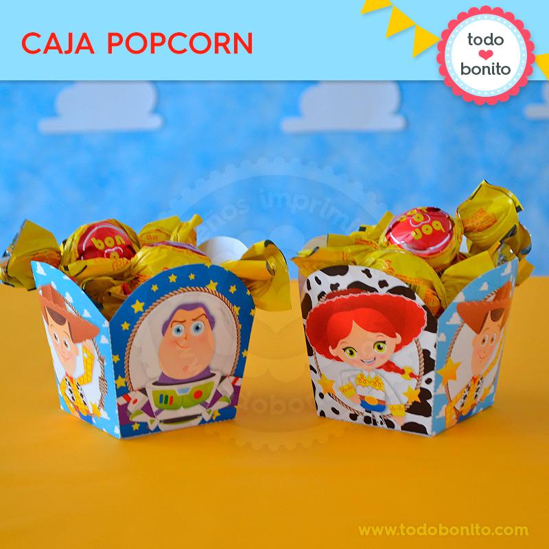 Caja PopCorn imprimible Kit Toy Story by Todo Bonito