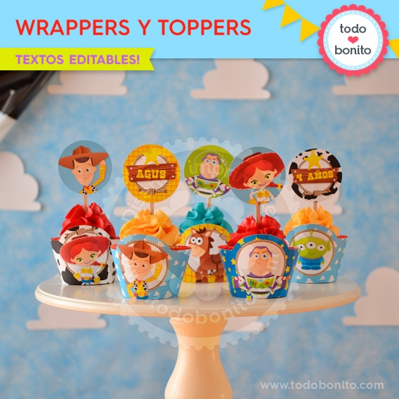Wrappers y Toppers imprimibles Toy Story Todo Bonito