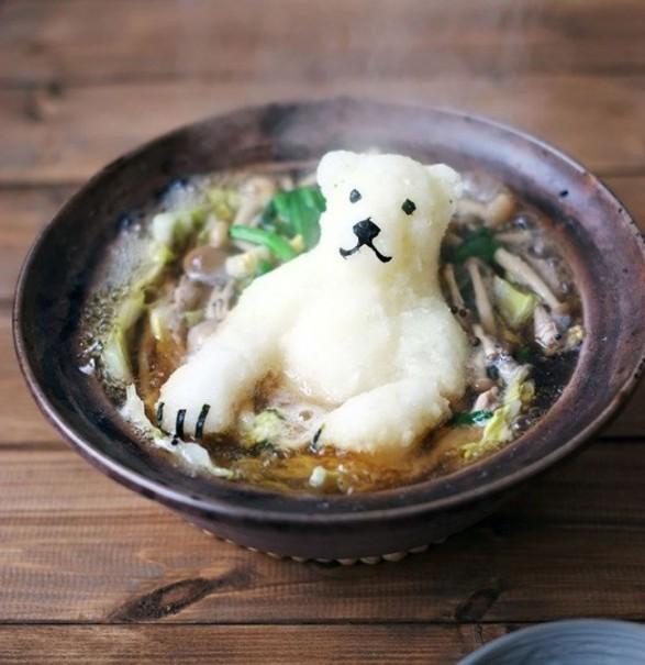 Oso polar de arroz