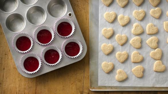 Cupcakes con centro de corazón 01