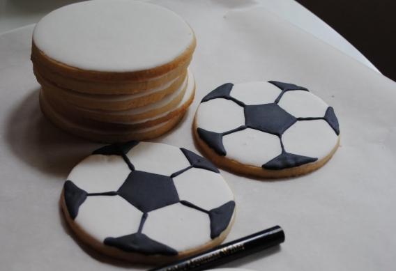 Galletitas pelota de fútbol