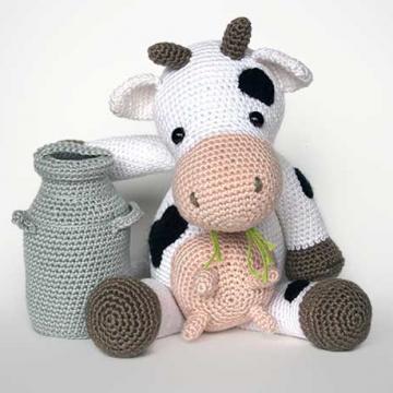 Hacer Vaca Amigurumi : Tiernos amigurumis - Todo Bonito