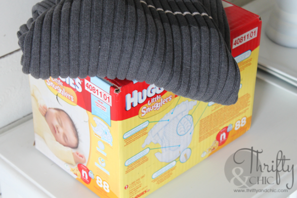 Caja Pañalera o utensillos del bebé Paso 1