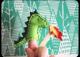 Dragón títere de dedo