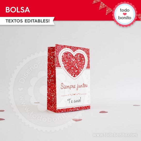 Bolsa Kit Glitter Rojo