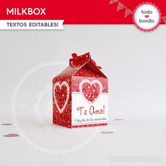 Caja MilkBox Kit Glitter Rojo