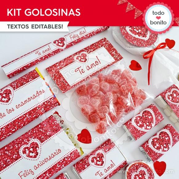Golosinas Kit Glitter Rojo