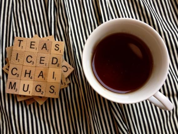 Posavasos de Scrabble