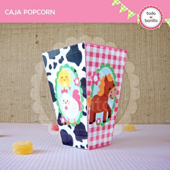 Caja Popcorn Granja NENAS