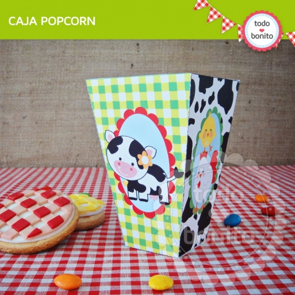 Caja Popcorn Granja NENES