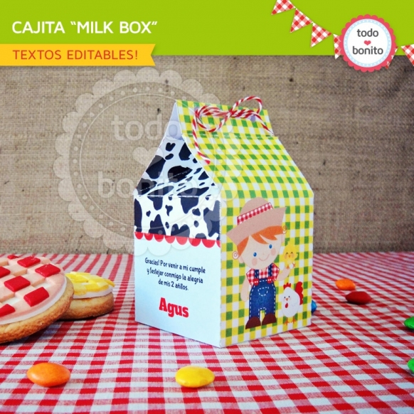 Cajita milkBox del kit granja