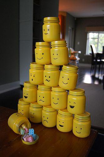 Frascos amarillos souvenir
