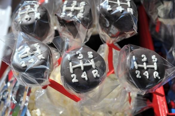 Geniales popcakes palanca de cambios