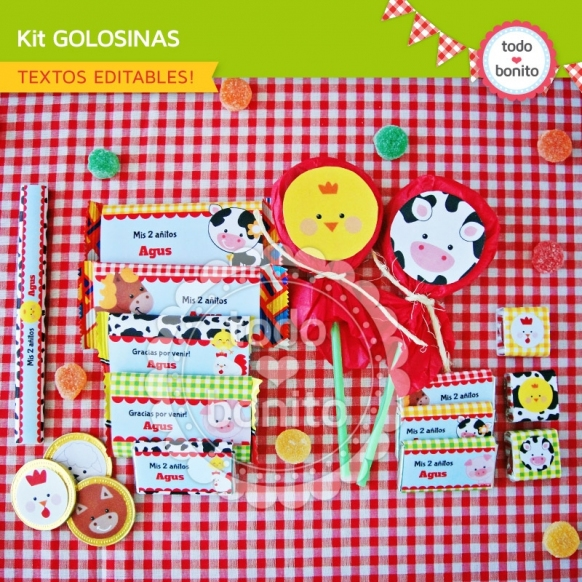 Kit golosinas del kit granja