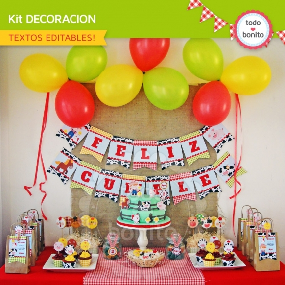 Kit decoracion Granja NENES