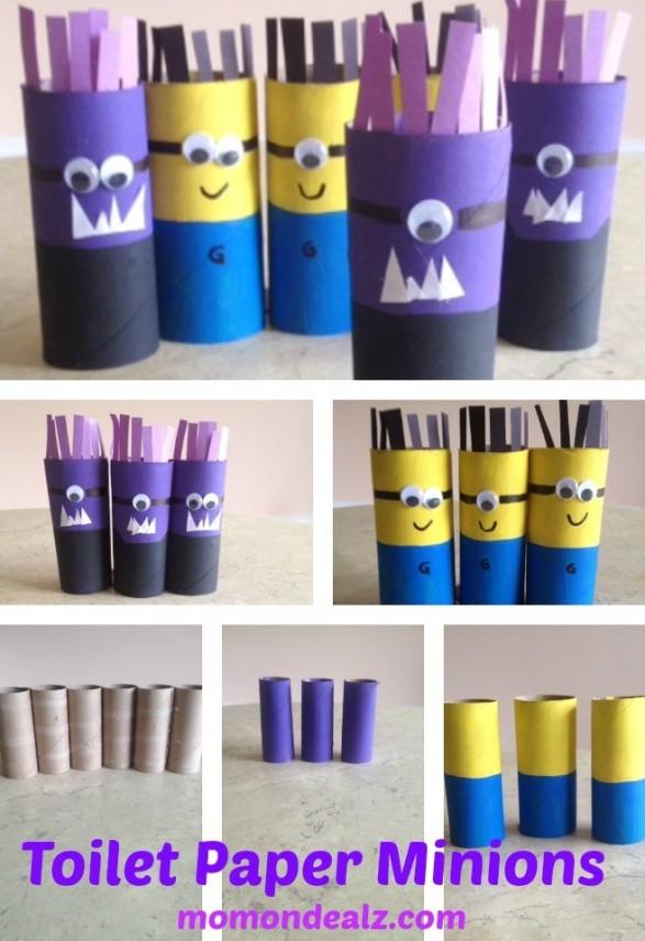Minions con rollos de papel higienico