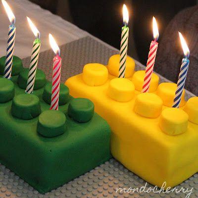 Original torta de blockes de Lego