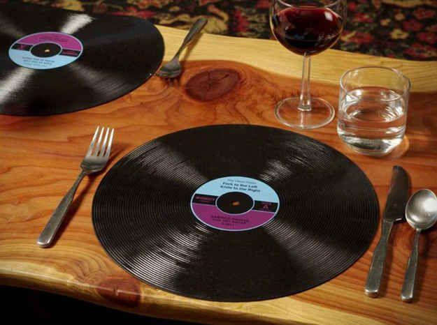 Disco de vinilo como plato de sitio - Plato discos vinilo ...