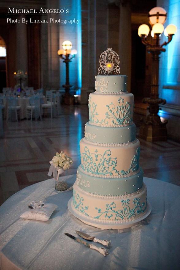Torta Cenicienta para una boda