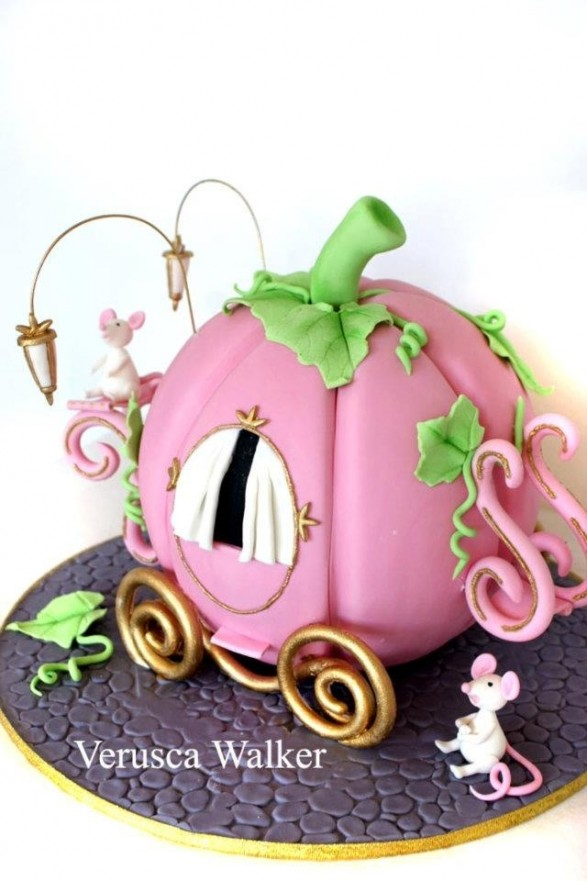 Torta calabaza carruaje