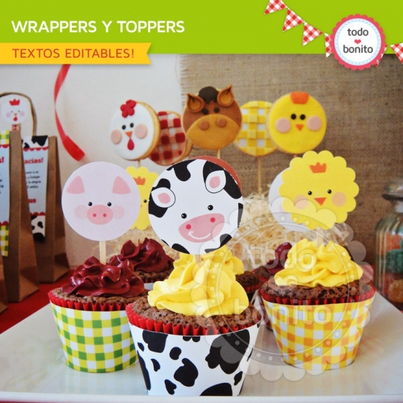 Wrappers y Toppers Granja NENES