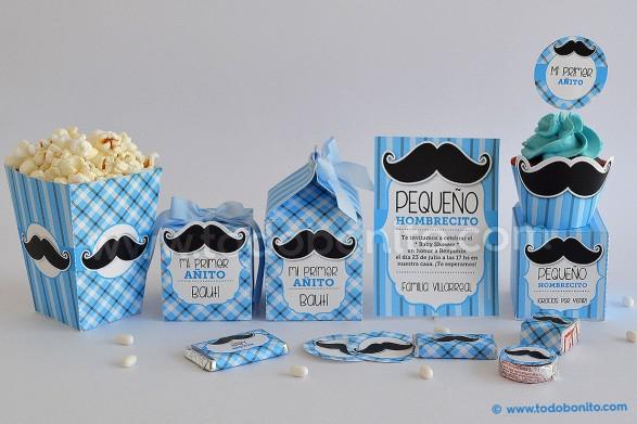 Kits imprimibles bigotes o mostachos todo bonito - Plantillas de decoracion ...