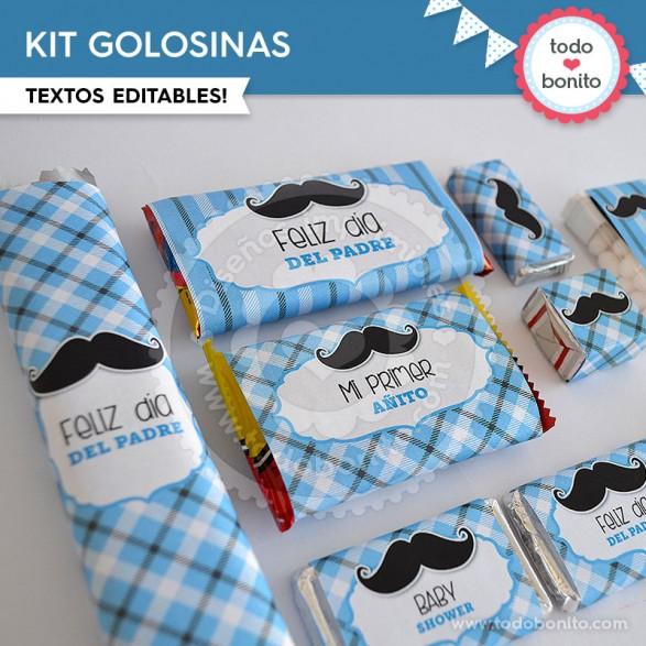 Kits imprimibles Bigotes o Mostachos