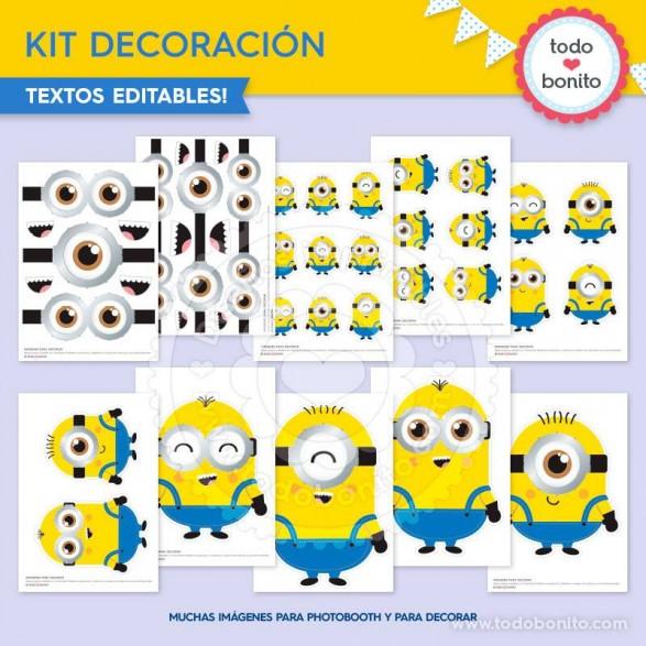 Kit imprimible Minions por Todo Bonito