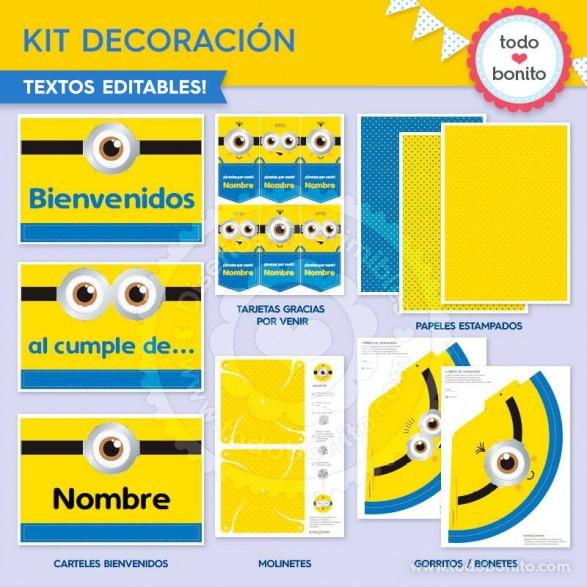 Kit imprimible Minions