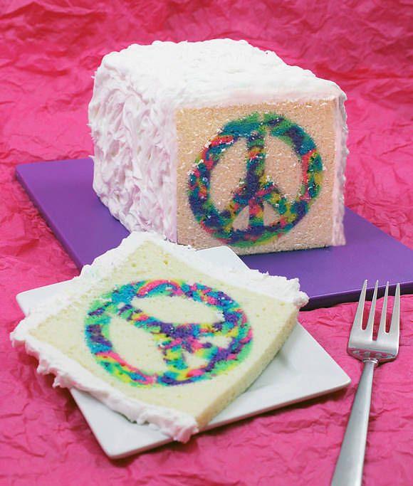 Torta rectangulo con simbolo