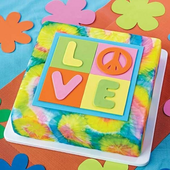 Torta cuadrada Love