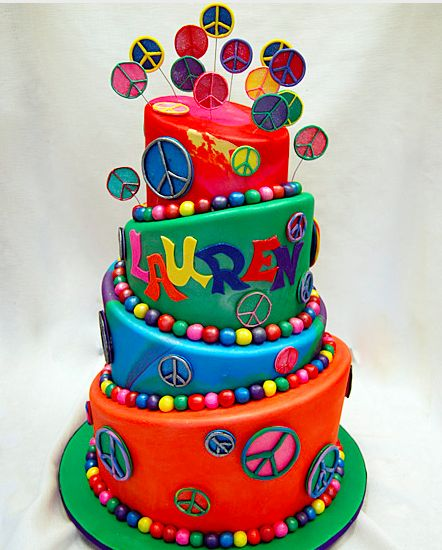 Torta de 4 pisos inclinadas