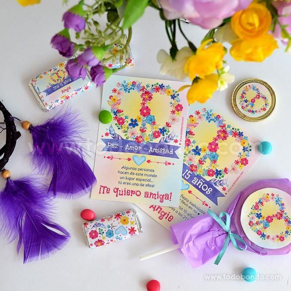 Amor & Paz - Kits imprimibles por Todo Bonito