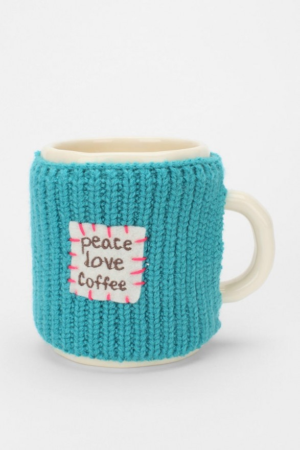 Sweater mug peace love and coffee