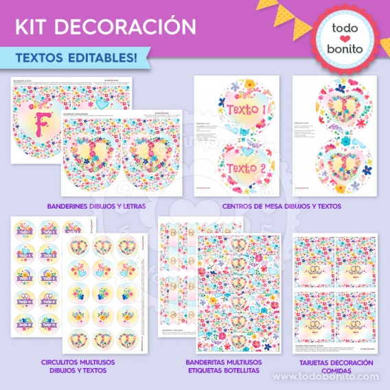 Kit decoración de Amor & Paz